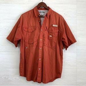 Columbia Mens PFG Vented Rusty Red Shirt